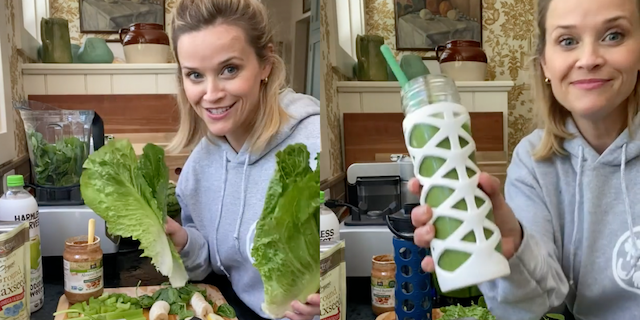 Here Are the Benefits Of Reese Witherspoon's Green Smoothie!